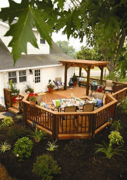 Deck ideas home remodeling specialists for Back patio porch designs